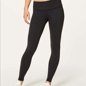 NWOT Lululemon Wunder Under Low Rise Black Tights